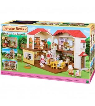 Sylvanian Families 5302 - Casa cu acoperis rosu - Figurine