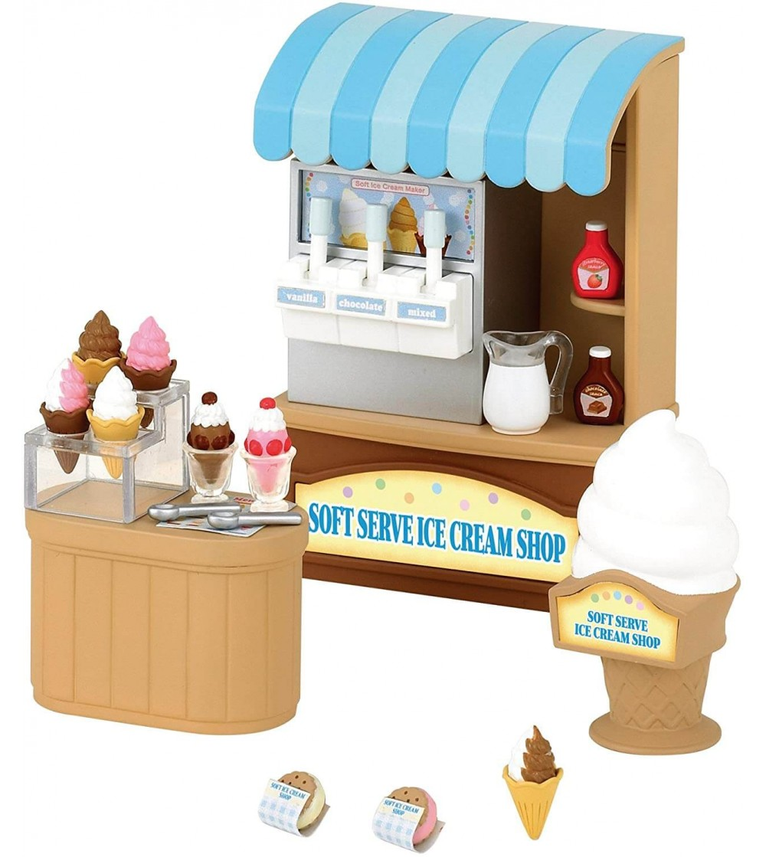 Sylvanian Families 5054 - Magazinul de inghetata Soft Serve - Figurine