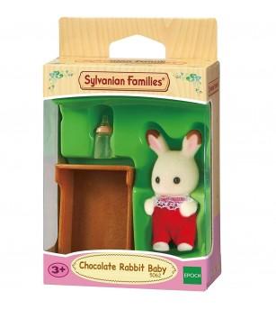 Figurina Sylvanian Families 5062 - bebelus iepuras Ciocolata - Figurine