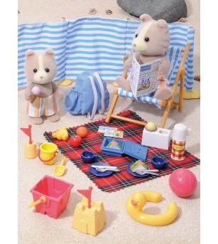 Sylvanian Families 4870 - set figurine la plaja - Figurine