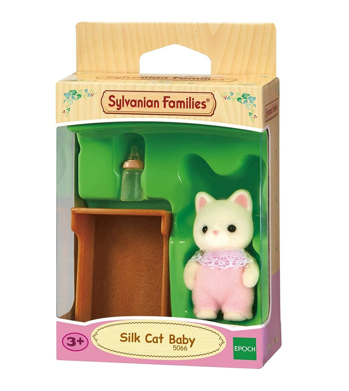 Figurina Sylvanian Families 5066 - bebelus pisica Matase - Figurine