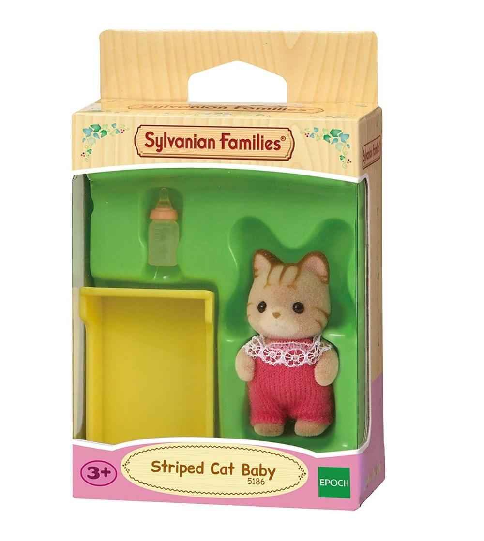 Figurina Sylvanian Families 5186 - bebelus pisica cu dungi - Figurine