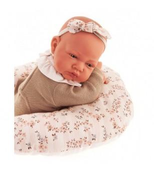 Papusa Bebelus nou nascut Cecilia cu perna pentru lactatie, 40 cm, Antonio Juan - Papusi