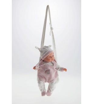 Papusa fetita Bimba cu mecanism de plans si ham pentru plimbat, 37 cm, Antonio Juan - Papusi