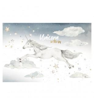 Sticker decorativ Dekornik, Unicorn si nori - Stickere perete