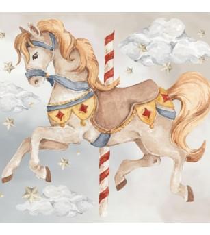 Sticker decorativ Dekornik, Poneiul din carusel - Stickere perete