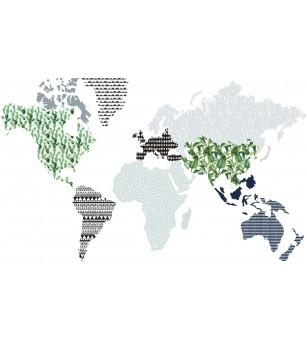 Sticker decorativ Dekornik, harta lumii - Stickere perete