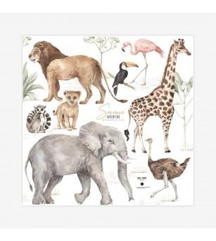 Sticker decorativ Dekornik, animale in savana - Stickere perete