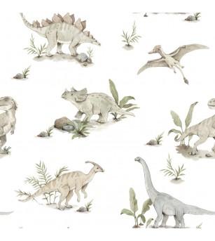 Tapet camera copii Dekornik, Happy Dinozauri - Tapet camera copii