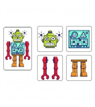 Joc de memorie si cooperare, Memo roboti - Jocuri de memorie și asociere