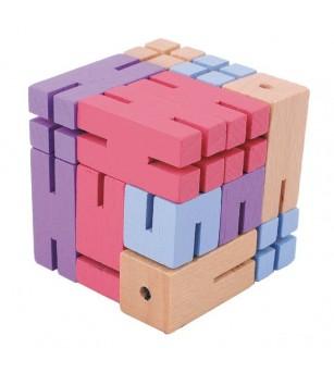 Joc logic 3D puzzle Figurina violet - Jucării logică