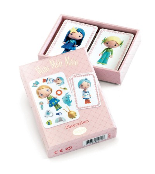 Joc de carti Djeco Mini Meli-Melo, printesele Tinyly - Jocuri de masă