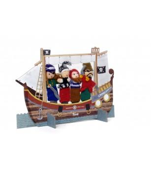 Teatru cu papusi de deget, pirati - Marionete