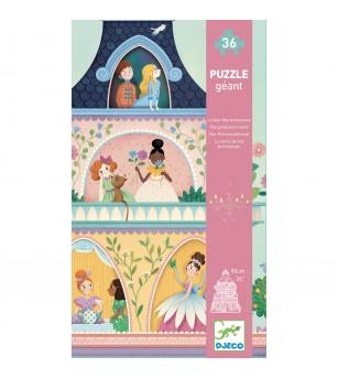 Puzzle gigant Djeco, Castelul printeselor - Puzzle-uri