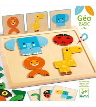 Geo Basic Djeco, joc pentru bebe cu forme geometrice - Jucării de lemn si Montessori