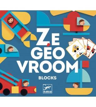 Ze GeoVroom Djeco, joc de construit cu piese geometrice - Jucării creativ-educative