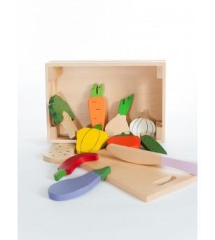 Ladita cu fructe si legume, jucarie handmade Marc toys - Bucătărie copii