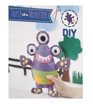 Set creativ - Kit din fetru DIY - Monstrulet Topsy - Crafturi