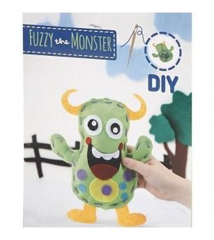 Set creativ - Kit din fetru DIY - Monstrulet Fuzzy - Crafturi