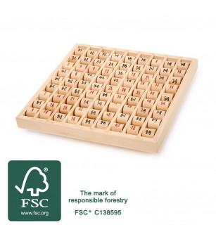 Tabla inmultirii din lemn Legler Small Foot - Jucării matematică