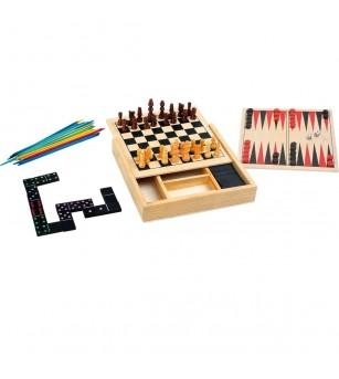 Jocuri clasice 4 in 1, Legler Small Foot - Jocuri de masă