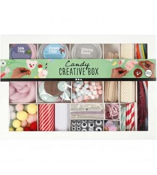 Kit creativ cu plastilina Foam Clay si Silk Clay - Candy - Plastilină și modelare