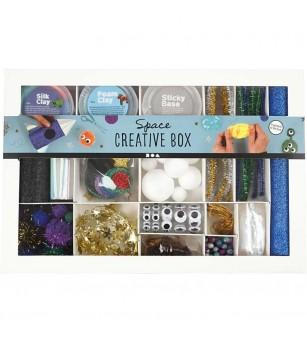 Kit creativ cu plastilina Foam Clay si Silk Clay - Spatiul cosmic - Plastilină și modelare