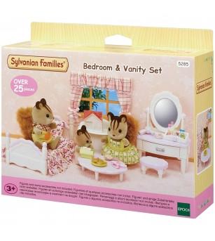 Sylvanian Families 5285 - set mobilier dormitor cu masuta de toaleta - Figurine