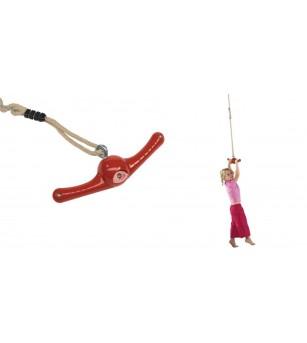 Franghie cu manere - Ventolino Rosu - 2,55 m - Jucării de miscare