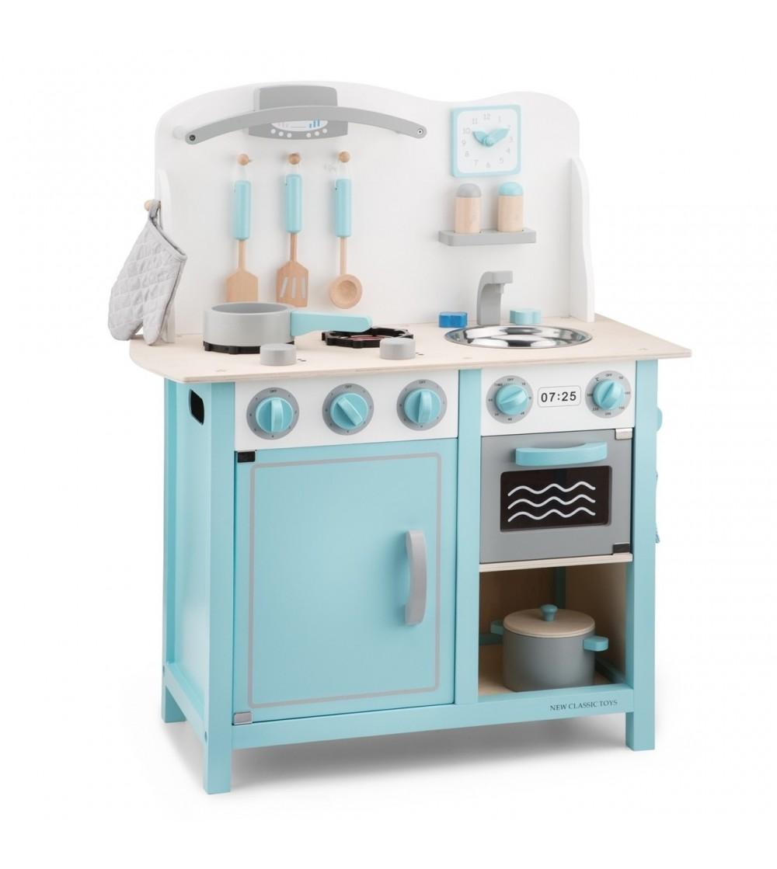 Bucătărie New Classic Toys - Bon Appetit Deluxe Albastru - Bucătărie copii