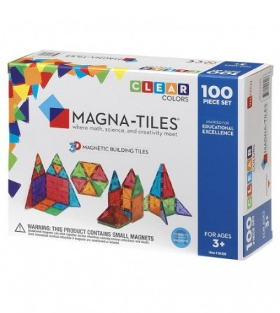 Set magnetic Magna-Tiles Clear Colors - 100 piese