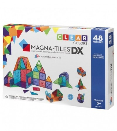 Set magnetic Magna-Tiles Clear Colors- 48 piese