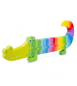 Puzzle Alfabet - Crocodil - Puzzle-uri