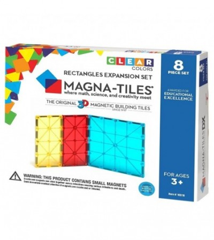 Magna-Tiles Extensie Dreptunghiuri - 8 piese - Jucarii magnetice