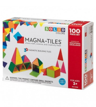 Set magnetic Magna-Tiles Solid Colors - 100 piese
