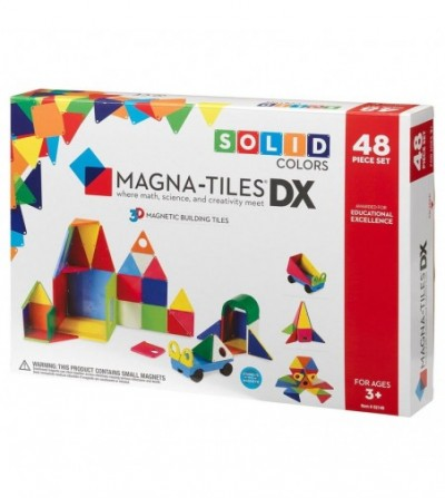 Set magnetic Magna-Tiles Geometric Solids- 48 piese - Jucarii magnetice