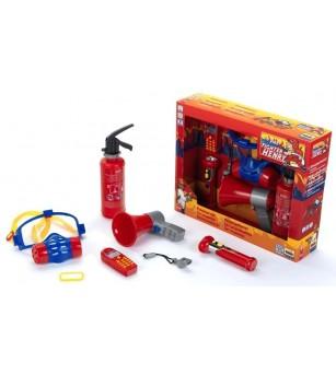 Set 7 accesorii pompier - Pompier, polițist