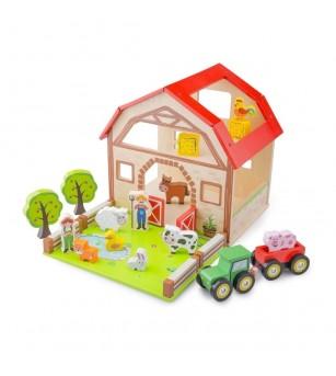 Set New Classic Toys - ferma - Jucării de lemn si Montessori