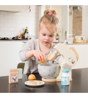 Set Mixer din lemn - Alb - Bucătărie copii