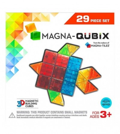 Set magnetic Magna-Qubix - 29 piese - Jucarii magnetice