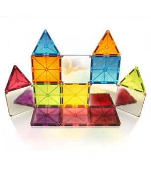 Set magnetic Magna-Tiles Stardust cu sclipici și oglinzi - 15 piese - Jucarii magnetice