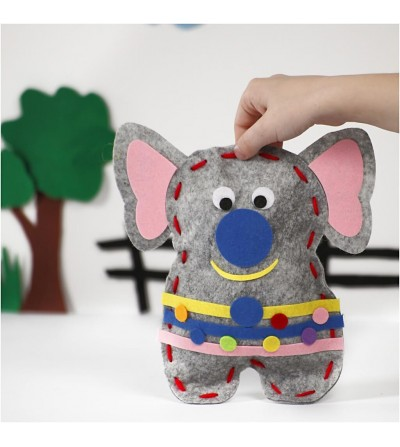 Set creativ - Kit animalut fetru DIY - elefant - Crafturi
