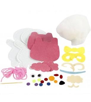 Set creativ - Kit animalut fetru DIY - oita - Crafturi