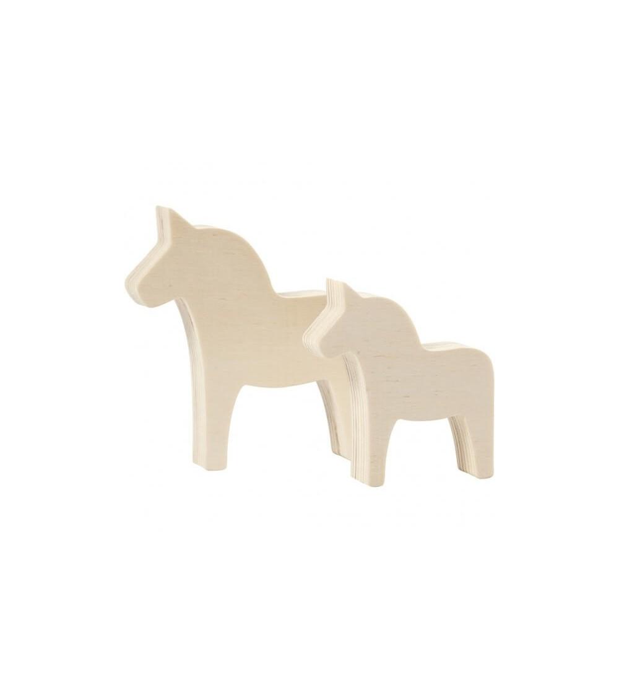 Set unicorni din placaj de lemn, H8 - H10 - Crafturi