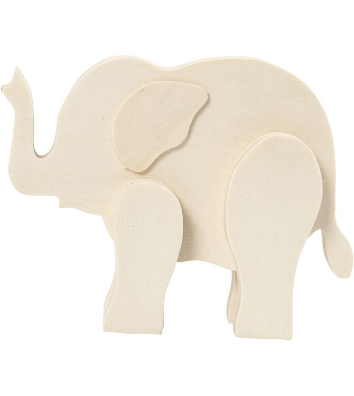 Elefant din placaj de lemn