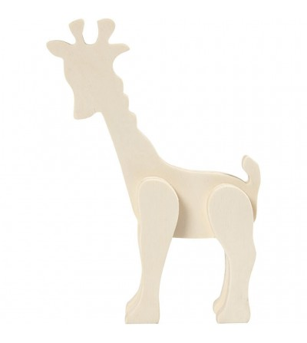 Girafa din placaj de lemn - Crafturi