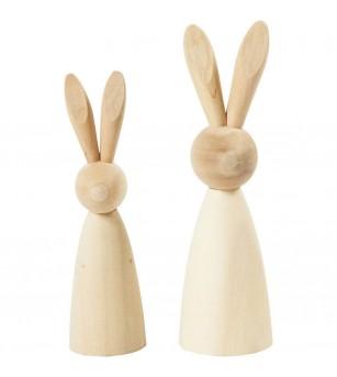 Figurine iepurasi, din lemn