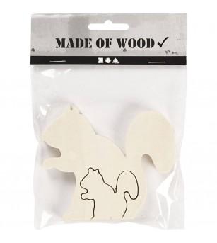 Figurine 2 in 1, din lemn, veverite - Crafturi