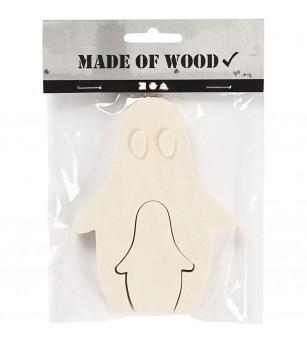Figurine 2 in 1, din lemn, fantome - Crafturi