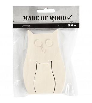 Figurine 2 in 1, din lemn, bufnite - Crafturi